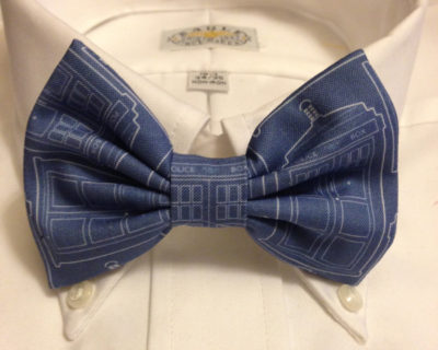 Doctor Who Inspired TARDIS Blueprint Bowtie