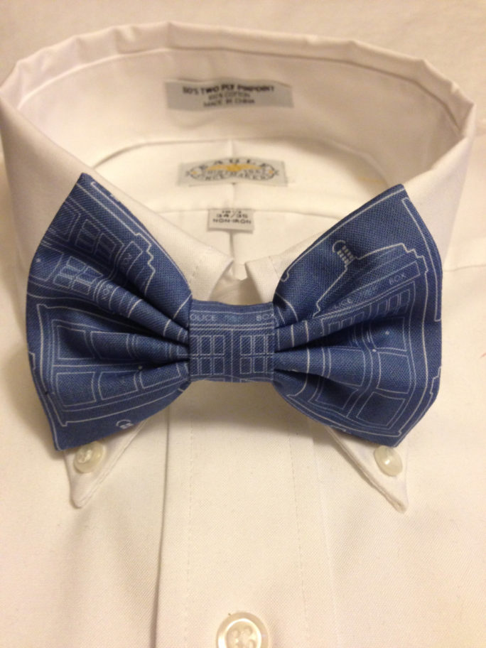 Vamers Store – South Africa – Merchandise – Accessories – Bowtie – Doctor Who Inspired TARDIS Blueprint Bowtie 01