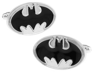 Gotham Silver Bat Symbol Cufflinks inspired by Batman