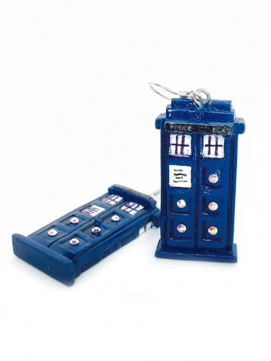 Vamers Store – Merchandise – Jewellery – Earrings – Doctor Who Inspired TARDIS Earrings 06