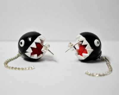 Super Mario Brothers Inspired Chain Chomp Earrings