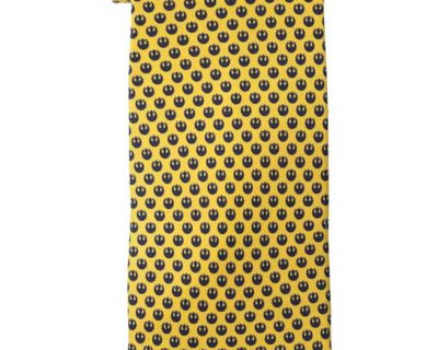 Star Wars Rebel Alliance Silk Necktie (Navy on Yellow)