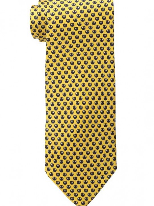 Vamers Store - Merchandise - Accessories - Necktie - Lucasfilm Star Wars Rebel Alliance Silk Necktie (Black on Tellow) 01