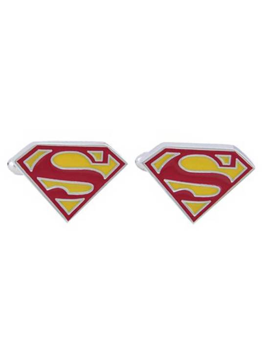 Vamers Store – Merchandise – Geek Chic – Accessories – Cufflinks – Superman Symbol Cufflinks – 01