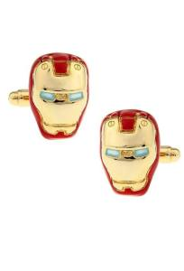 Classic Iron Man Inspired Helmet Cufflinks (Gold Tone)