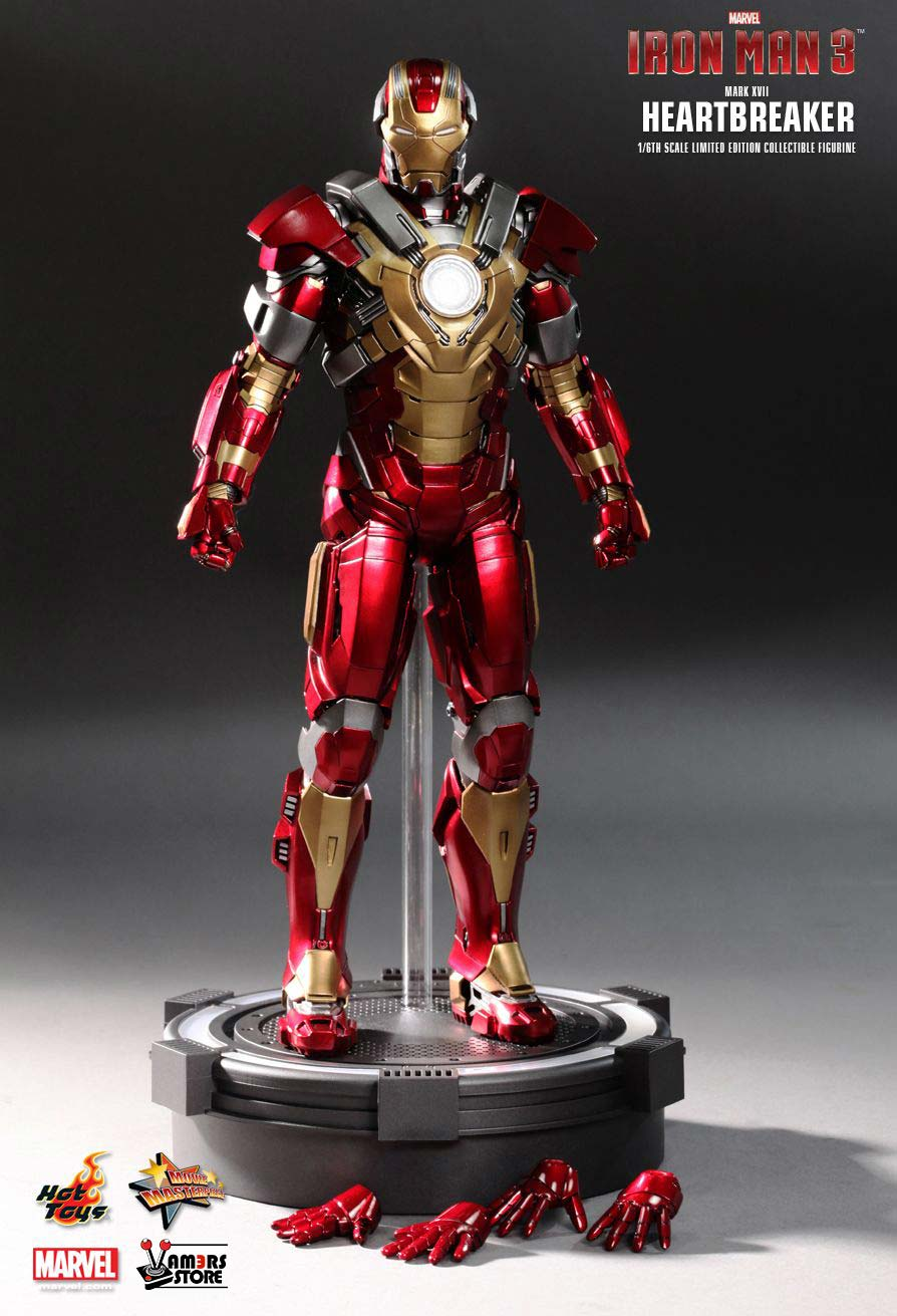 Iron Man 3 Toys ~ Hot toys iron man mark xvii heartbreaker collectible figure