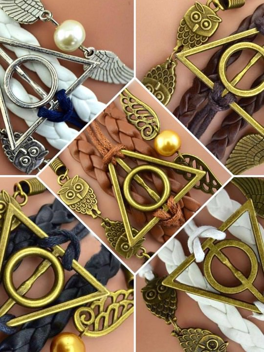 Vamers Store – Jewellery – Harry Potter Leather Charm Bracelets Inspired by Harry Potter – VVS-JWL-BRC-HPDH – Variations