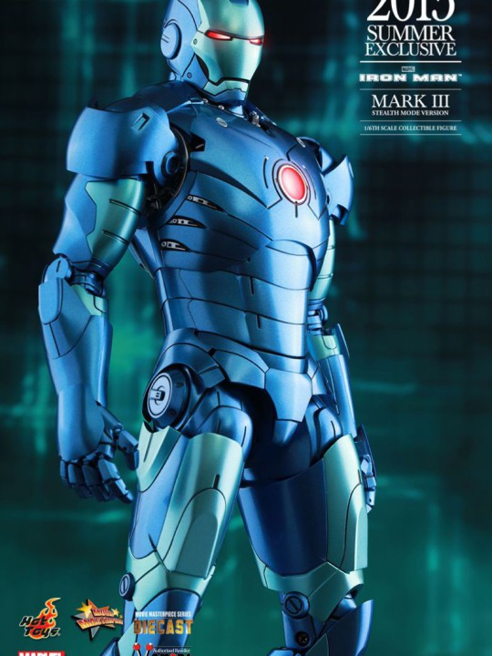 Vamers Store – Hot Toys – MMS312D14 – Iron Man – Iron Man Mark III Stealth Mode Version – 2015 Summer Exclusive – 12