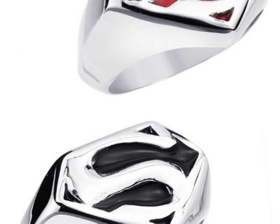Stainless Steel Classic Superman Ring