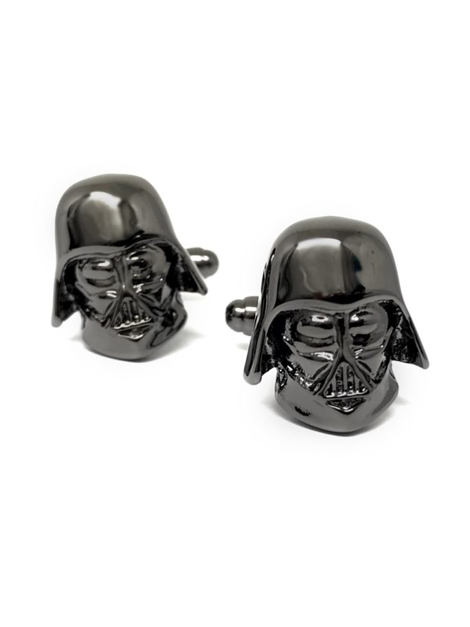 Vamers Store – Merchandise – Geek Chic – Accessories – Cufflinks – Star Wars Inspired 3D Darth Vader Cufflinks – Vader Black – Main 01
