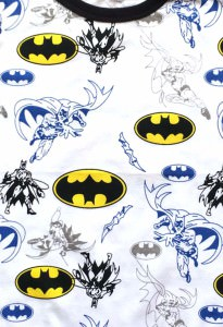 Batman Print Baby Grow