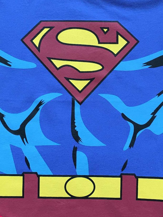 Vamers Store – Apparel – Baby Clothing – Superman Suit Baby Romper – Close-Up