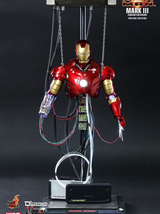 Vamers Store - Hot Toys - DS003 - Iron Man - Iron Man Mark III (Construction Version) - 04