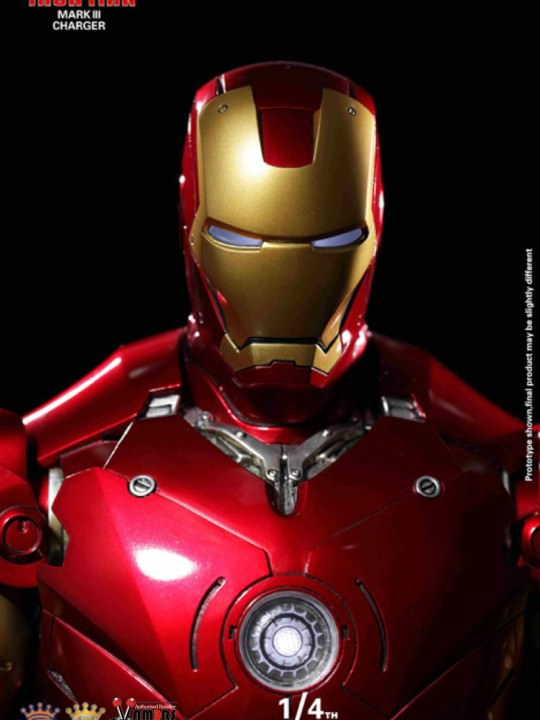 Vamers Store - King Arts - Power Charger Series (PCS003) - One Fourth Scale - Iron Man Mark III Repair Version - 06