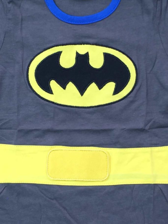 Vamers Store – Apparel – Baby Clothing – Batman Suit with Cape Baby Grow Romper – Main