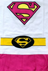 Supergirl Suit with Cape Baby Grow