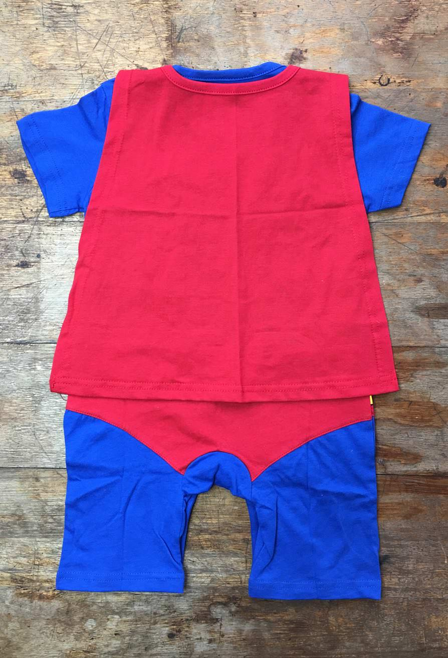 58428529a Superman Suit with Cape Baby Grow (100% Cotton)