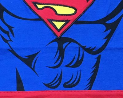 Superman Suit with Cape Baby Grow