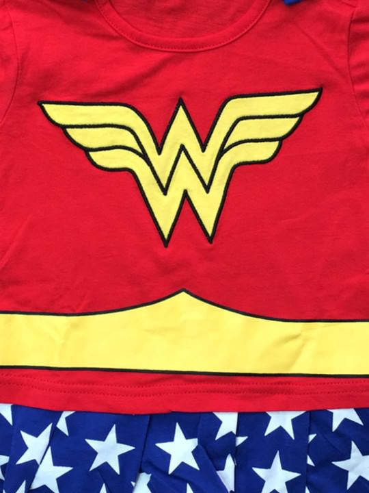Vamers Store - Apparel - Baby Clothing - Wonder Woman Suit with Cape Baby Grow Romper - Main
