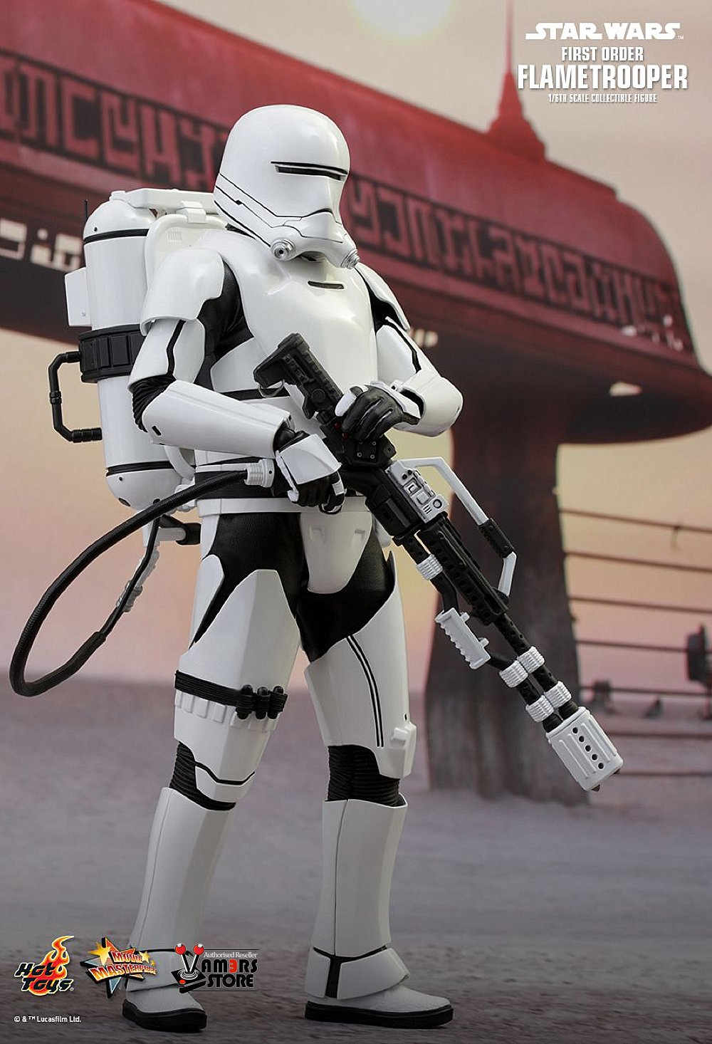 hot toys star wars first order flametrooper vamers store. Black Bedroom Furniture Sets. Home Design Ideas