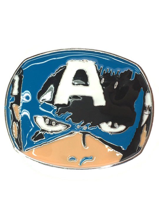 Vamers Store - Merchandise - Geek Chic - Accessories - Belt Buckles - Captain America Face Belt Buckle inspired by Marvel Comics - 01