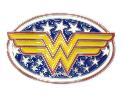 Wonder Woman Logo Belt Buckle Inspired by DC Comics
