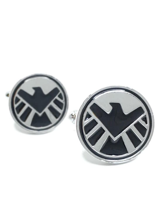 Vamers Store - Merchandise - Geek Chic - Accessories - Cufflinks - S.H.I.E.L.D. Logo Cufflinks inspired by Marvel's Agents of S.H.I.E.L.D. - 02