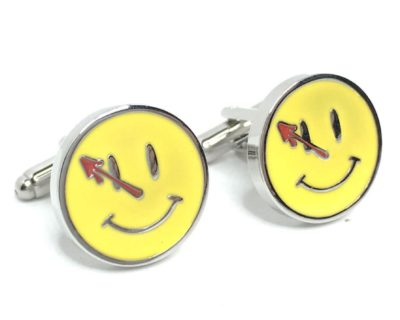 The Comedian's Badge Cufflinks Inspired by Watchmen