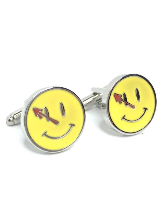 Vamers Store - Merchandise - Geek Chic - Accessories - Cufflinks - The Comedians Badge Cufflinks inspired by Watchmen - 03