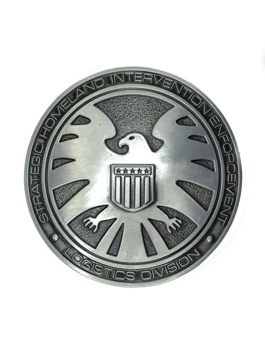 Vamers Store - Merchandise - Geek Chic - Accessories - Belt Buckles - Agents of S.H.I.E.L.D. Logo Belt Buckle inspired by Marvel Comics - 01
