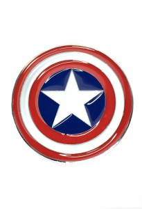 Captain America Shield Belt Buckle Inspired by Marvel Comics
