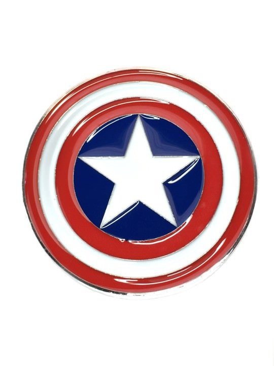 Vamers Store - Merchandise - Geek Chic - Accessories - Belt Buckles - Captain America Shield Belt Buckle inspired by Marvel Comics - 01