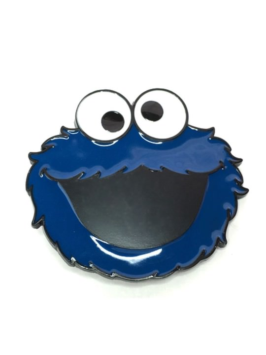 Vamers Store - Merchandise - Geek Chic - Accessories - Belt Buckles - Cookie Monster Face Belt Buckle inspired by The Muppets - 01