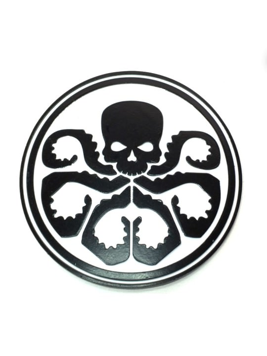 Vamers Store – Merchandise – Geek Chic – Accessories – Belt Buckles – Hydra Logo Belt Buckle inspired by Marvel's Agents of S.H.I.E.l.D. – White and Black – 01