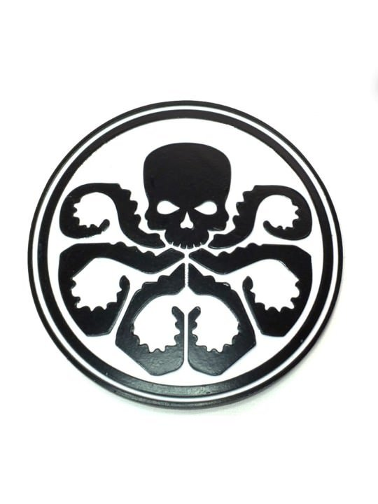 Vamers Store - Merchandise - Geek Chic - Accessories - Belt Buckles - Hydra Logo Belt Buckle inspired by Marvel's Agents of S.H.I.E.l.D. - White and Black - 01