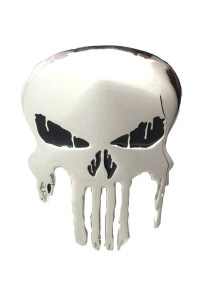 Punisher Skull Belt Buckle Inspired by Marvel Comics (Chrome)