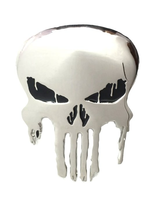 Vamers Store - Merchandise - Geek Chic - Accessories - Punisher Skull Logo Belt Buckle inspired by Marvel Comics - 01