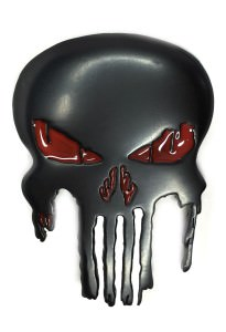 Punisher Skull Belt Buckle Inspired by Marvel Comics (Black)