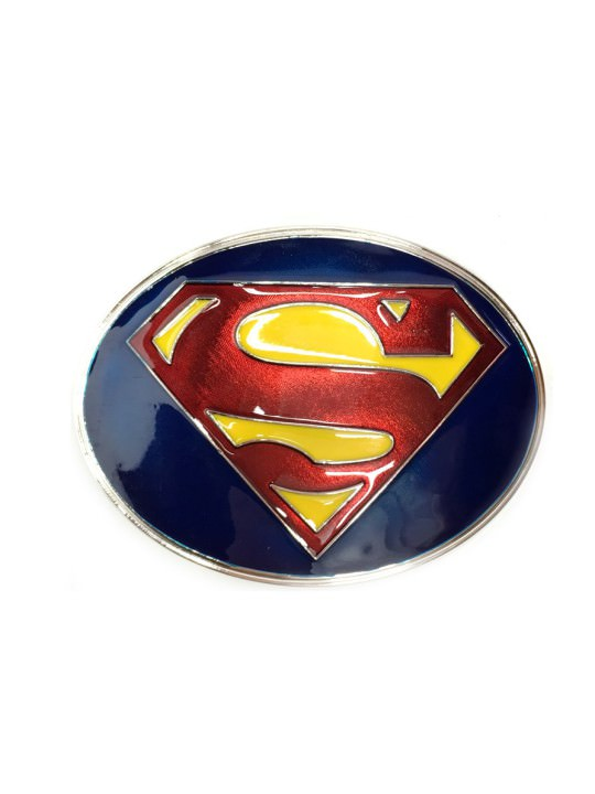 Vamers Store - Merchandise - Geek Chic - Accessories - Superman New Adventures Logo Belt Buckle inspired by DC Comics - 01