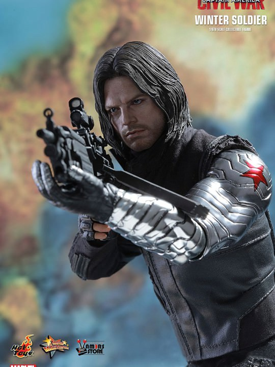 Vamers Store - Hot Toys - MMS351 - Marvel's Captain America Civil War - Winter Soldier - 06