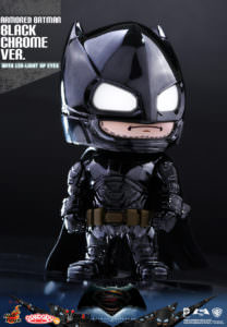 Hot Toys Armoured Batman (Black Chrome Version) Cosbaby from Batman v Superman: Dawn of Justice