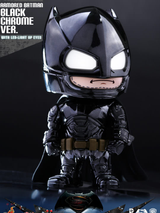Vamers Store - Hot Toys - COSB-ABCB - DC Comics Batman v Superman Dawn of Justice - Cosbaby Armoured Batman (Black Chrome Version) - 01