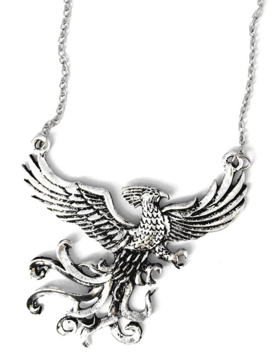Vamers Store - Jewellery -  Fawkes the Phoenix pendant and necklace inspired by Harry Potter - Vintage - Metal - 08