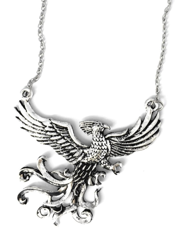 Vamers Store – Jewellery –  Fawkes the Phoenix pendant and necklace inspired by Harry Potter – Vintage – Metal – 08