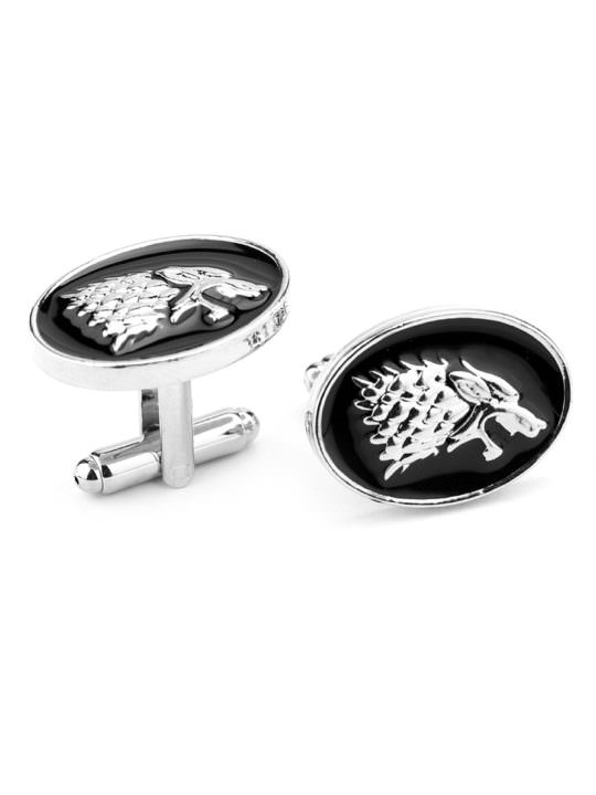 Vamers Store - Merchandise - Geek Chic - Accessories - Cufflinks - House Stark Cufflinks inspired by Game of Thrones - Enamel and Silver - 05