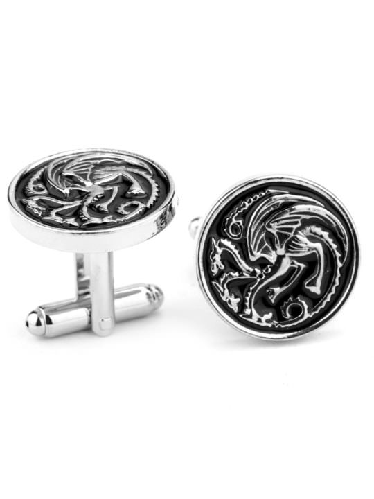 Vamers Store - Merchandise - Geek Chic - Accessories - Cufflinks - House Targaryen Cufflinks inspired by Game of Thrones - Enamel and Silver - 05