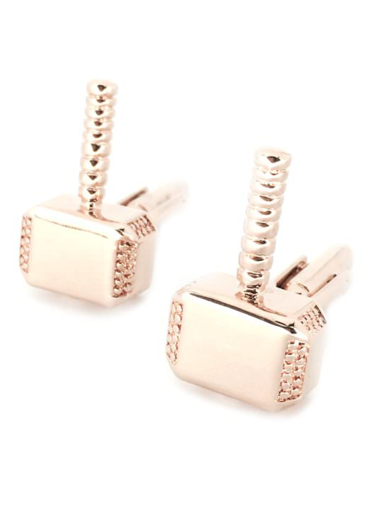 Vamers Store - Merchandise - Geek Chic - Accessories - Cufflinks - Thor's Hammer Mjolnir Cufflinks inspired by Marvel's Thor - Silver - 02