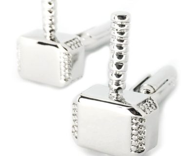 Silver Mjölnir Cufflinks inspired by Marvel's Thor