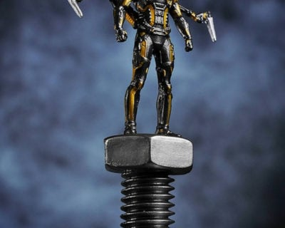 King Arts Yellowjacket Posed Character with Nut and Bolt Collectible from Marvel's Ant-Man