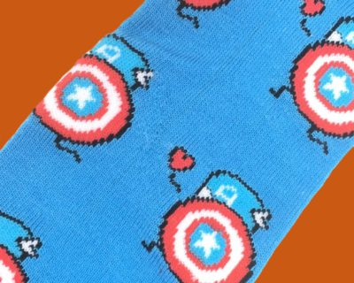 Captain America Caricature Socks inspired by Marvel Comics